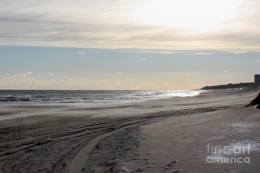 Sunset Over Atlantic Ocean In Montauk Photograph - Sunset Over Atlantic Ocean In Montauk by John Telfer