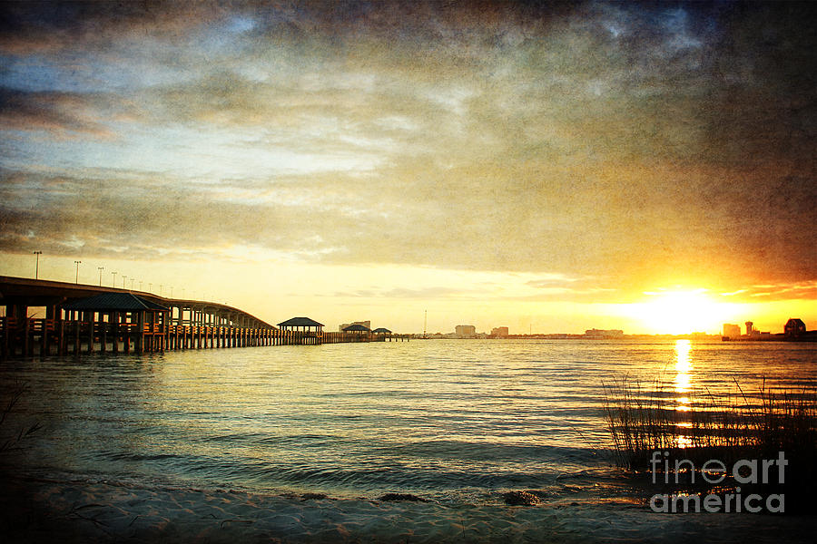 Sunset Photograph - Sunset Over Biloxi Bay by Joan McCool