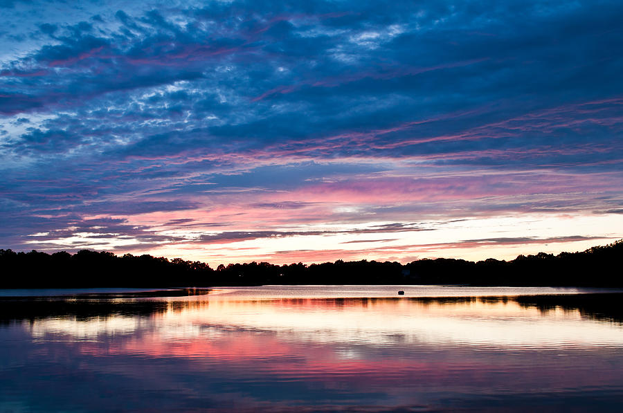 Sunset Photograph - Sunset Over Blacks Creek by Lee Costa