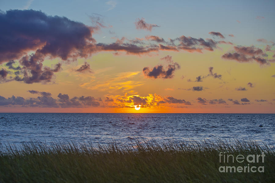 Sunset Photograph - Sunset Over Cape Cod Bay by Diane Diederich