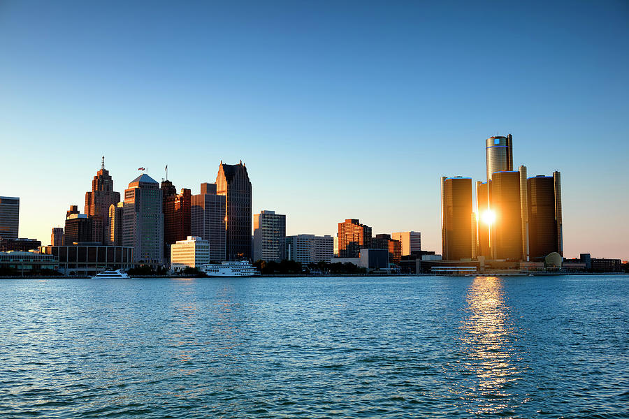 Sunset Over Detroit, Michigan Photograph by Pawel.gaul