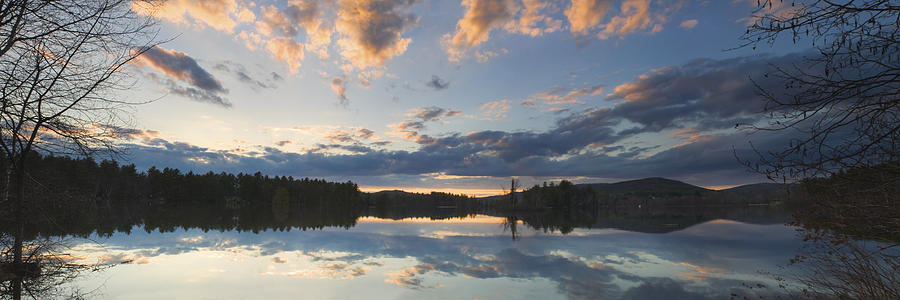 Vienna Photograph - Sunset Over Flying Pond In Vienna Maine by Keith Webber Jr