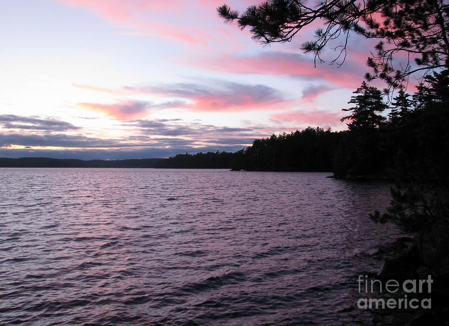 Blue Photograph - Sunset Over Lake Catchacoma 2 by Robert Burns