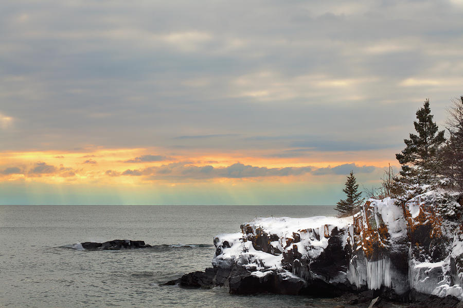 Sunset Over Lake Superior Photograph by Susan Dykstra / Design Pics