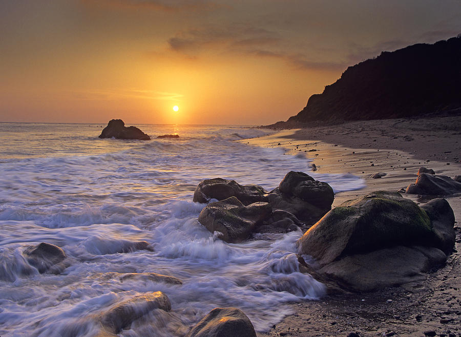 Sunset Over Leo Carillo State Beach Photograph by Tim Fitzharris