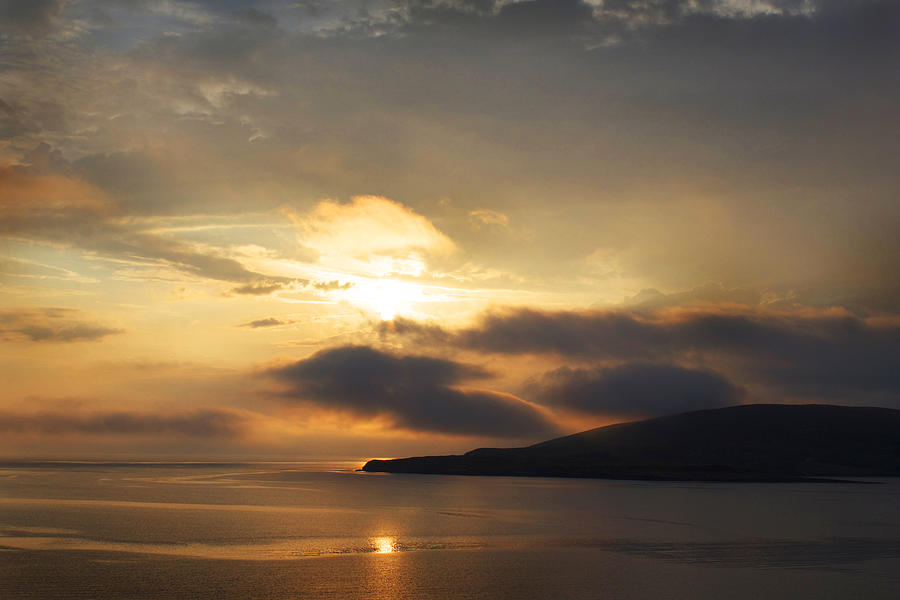 Sunset Photograph - Sunset Over Loch Broom by Ed Pettitt