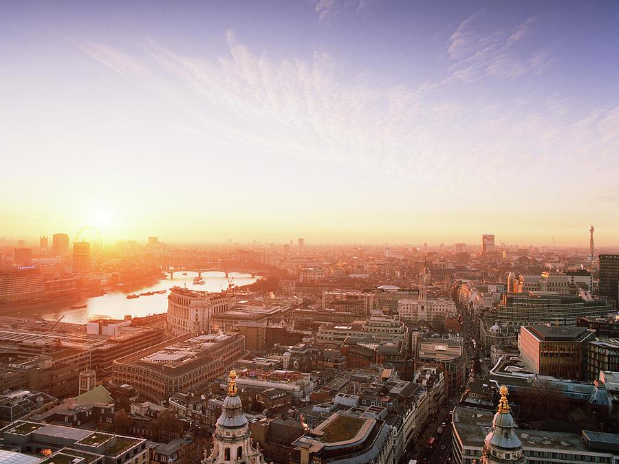 Sunset Over London City Photograph by Shomos Uddin