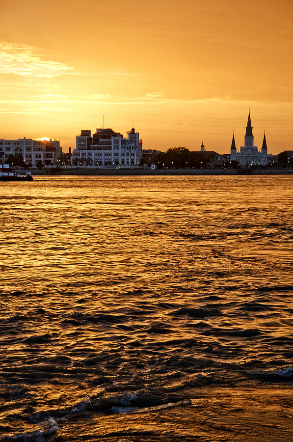 New Orleans Photograph - Sunset Over New Orleans by Patricia Sanders