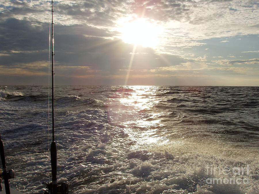 Sunset Over Nj After Fishing Photograph - Sunset Over Nj After Fishing by John Telfer
