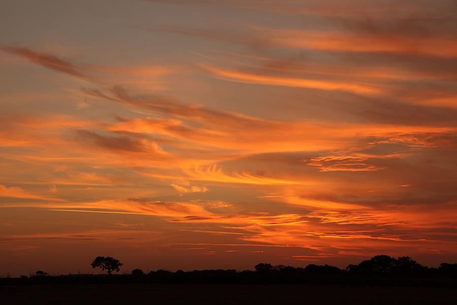 Sunset Photograph - Sunset Over North Norfolk by Paul Lilley