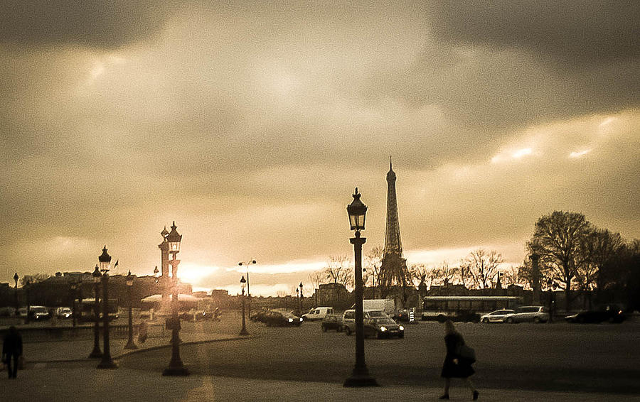 Paris Photograph - Sunset Over Paris by Steven  Taylor