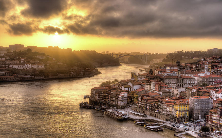 Sunset Over Porto, Portugal Photograph by Maximilian Müller
