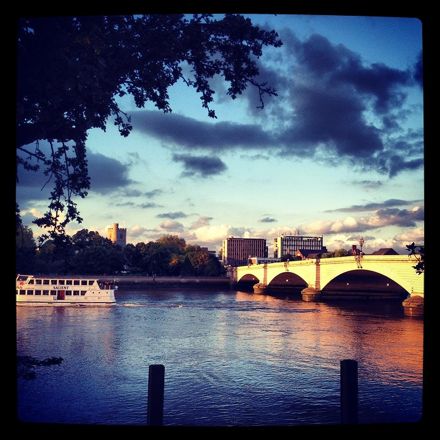 Sunset Photograph - Sunset Over Putney Bridge by Maeve O Connell