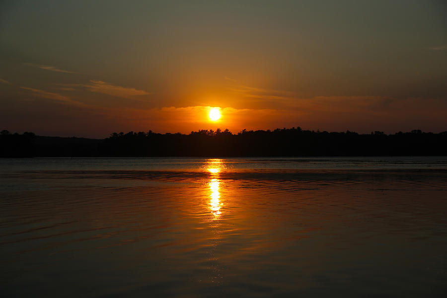 Sunset Photograph - Sunset Over Rice Lake by James Hammen