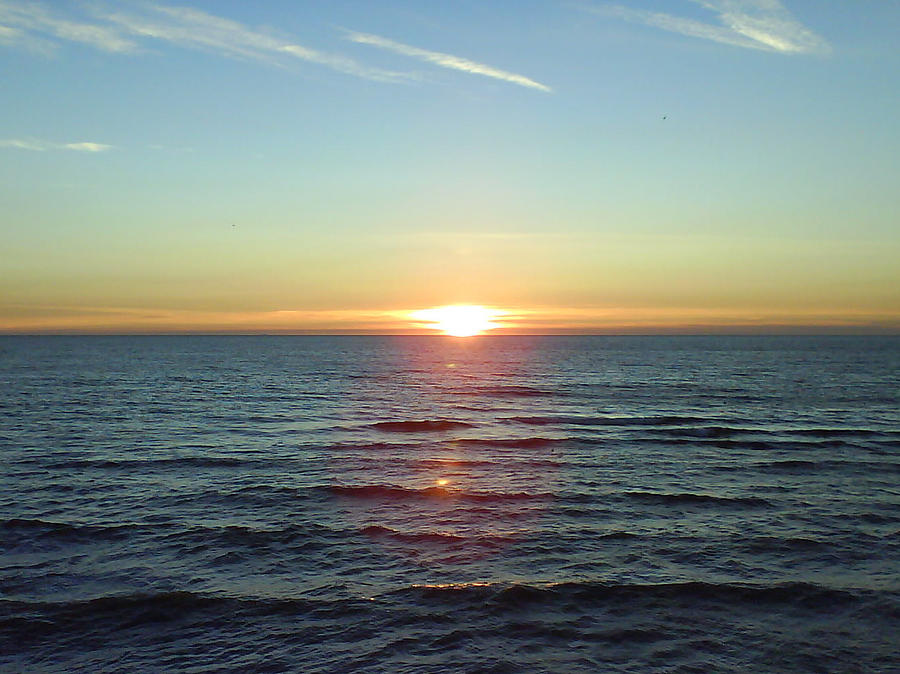 Sunset Over Sea Photograph by Gordon Auld