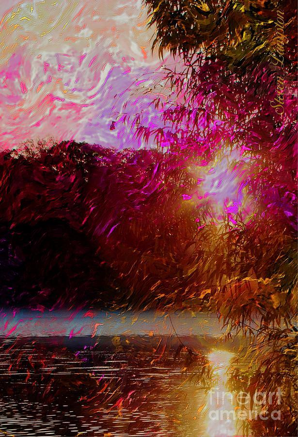 Lake Digital Art - Sunset Over Soddy by Steven Lebron Langston
