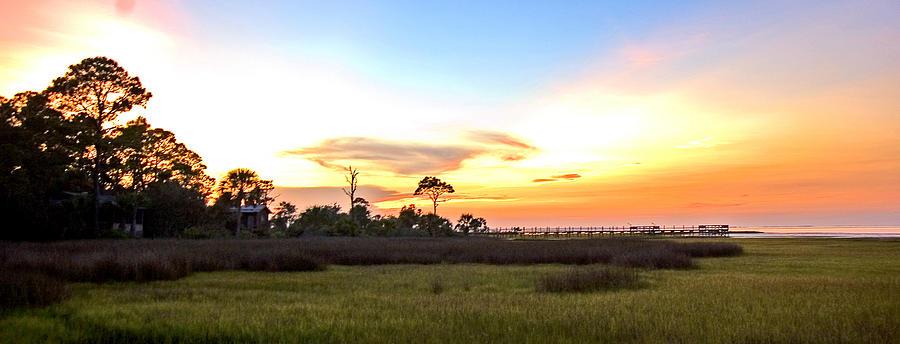 Sunset Photograph - Sunset Over St. Joe Bay by Norman Johnson