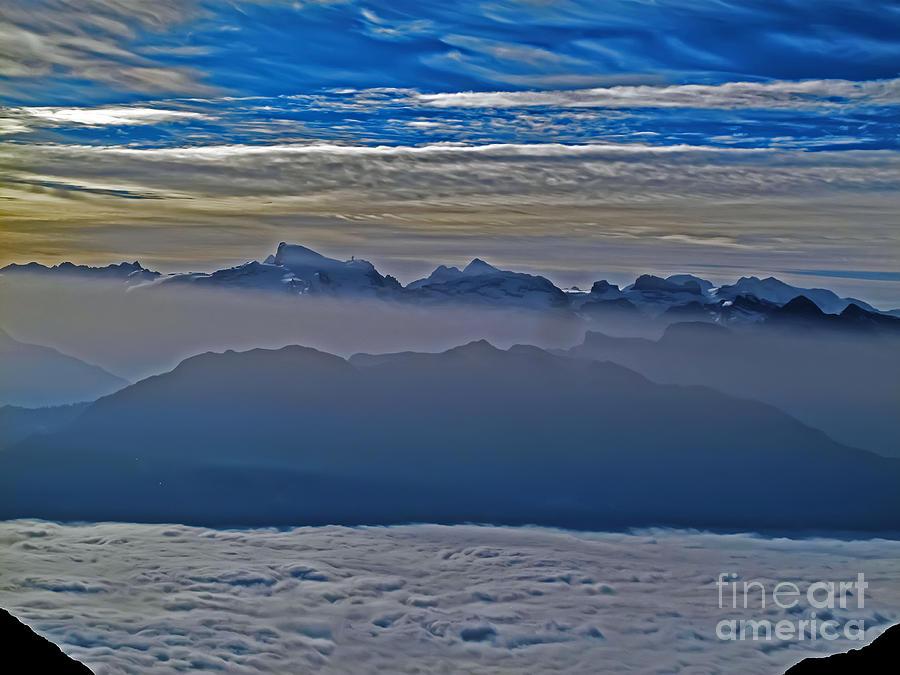 Sunset Over Switzerland Photograph