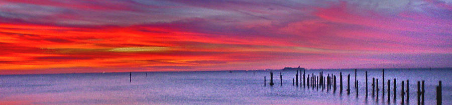 Sunset Photograph - Sunset Over Tampa Bay by Norman Johnson
