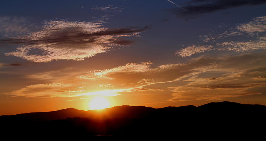 Sunset Photograph - Sunset over the Blue Ridge by Candice Trimble