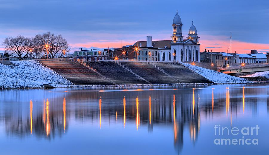 Lock Haven Photograph - Sunset Over The Clinton County Courthouse by Adam Jewell