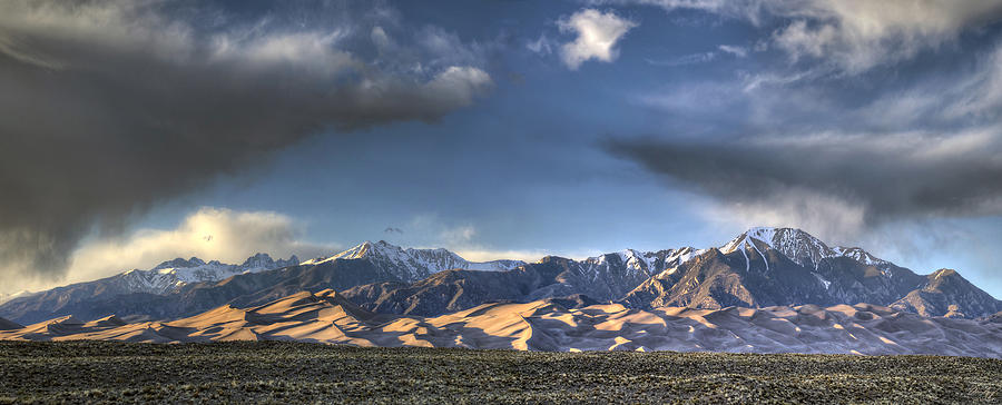 Great Sand Dunes Photograph - Sunset Over The Dunes by Aaron Spong
