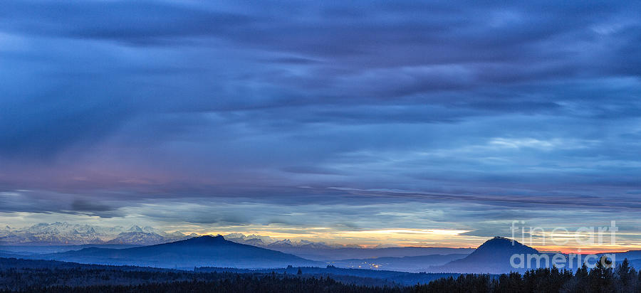 Sunset Photograph - Sunset Over The European Alps by Bernd Laeschke