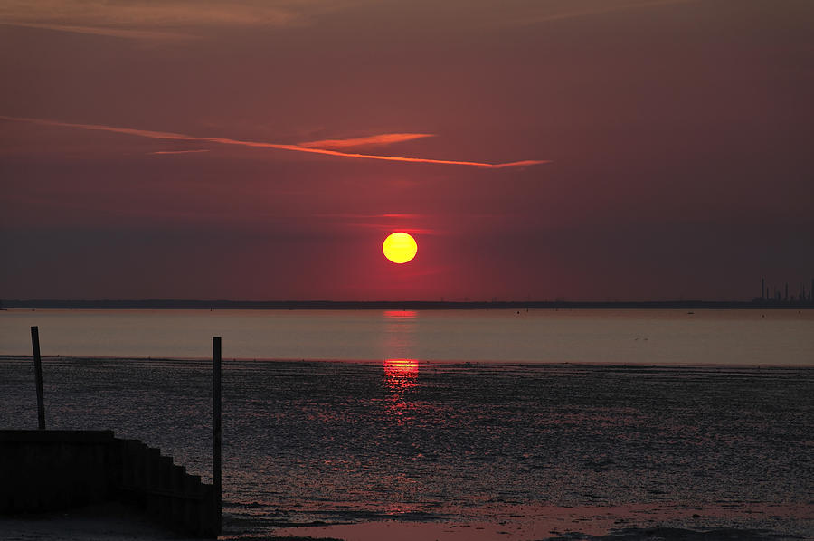 Britain Photograph - Sunset Over The Hampshire Coast by Rod Johnson