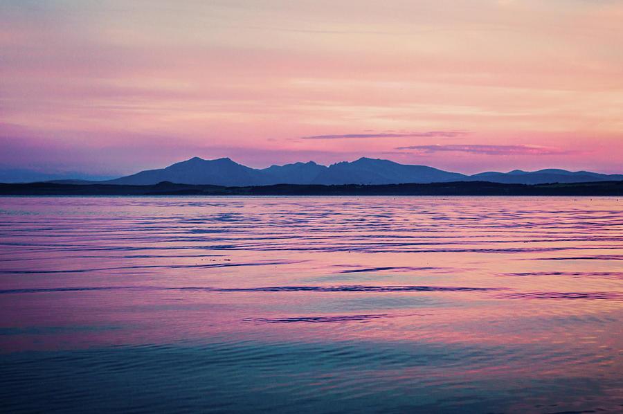 Sunset Over The Isle Of Arran, Scotland Photograph by Vwb Photos