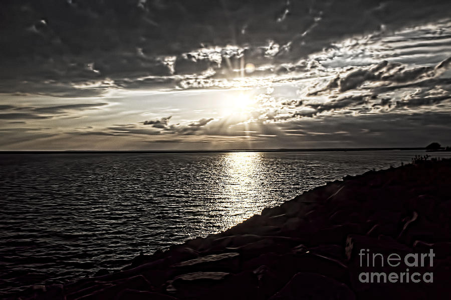 Sunset Photograph - Sunset Over The Lake by Jim Lepard
