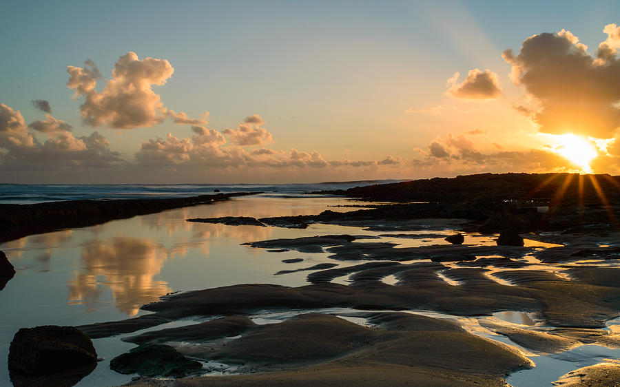 Sea Photograph - Sunset Over The Ocean IIi by Marco Oliveira