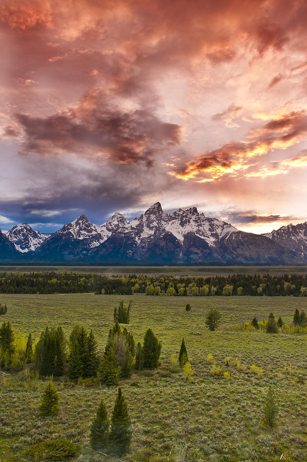 Grand Teton National Park Photograph - Sunset Over The Tetons  by Greg Wyatt