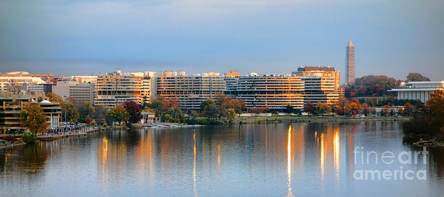 Washington Photograph - Sunset Over Watergate by Olivier Le Queinec