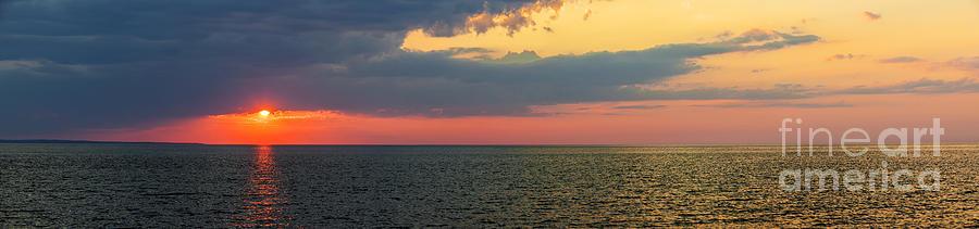 Sky Photograph - Sunset Panorama Over Atlantic Ocean by Elena Elisseeva