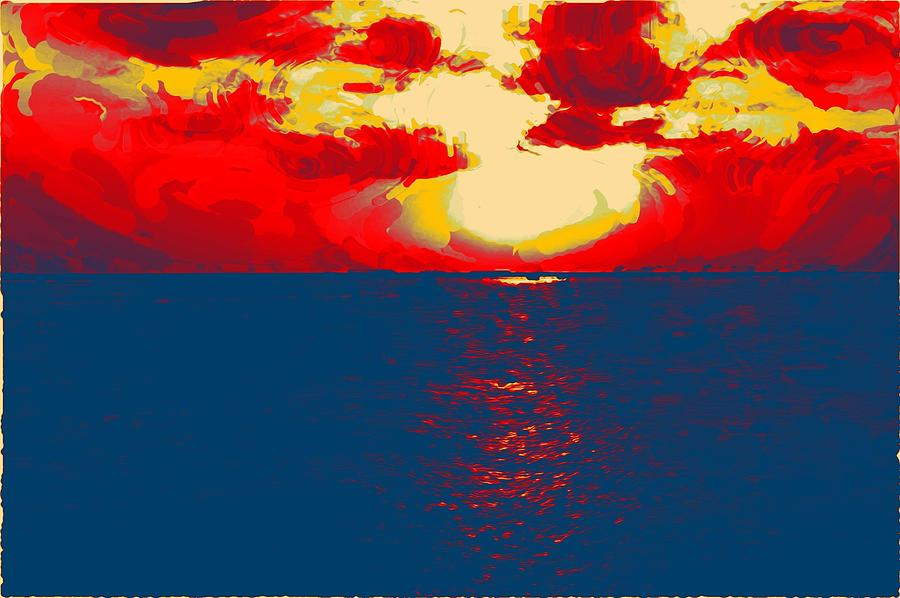 Sunset Digital Art - Sunset Paradise by Peter Waters