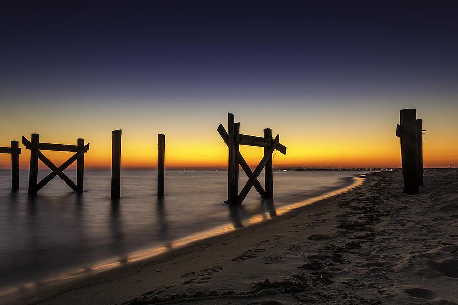 Pier Photograph - Sunset Pier by CJ Bryant