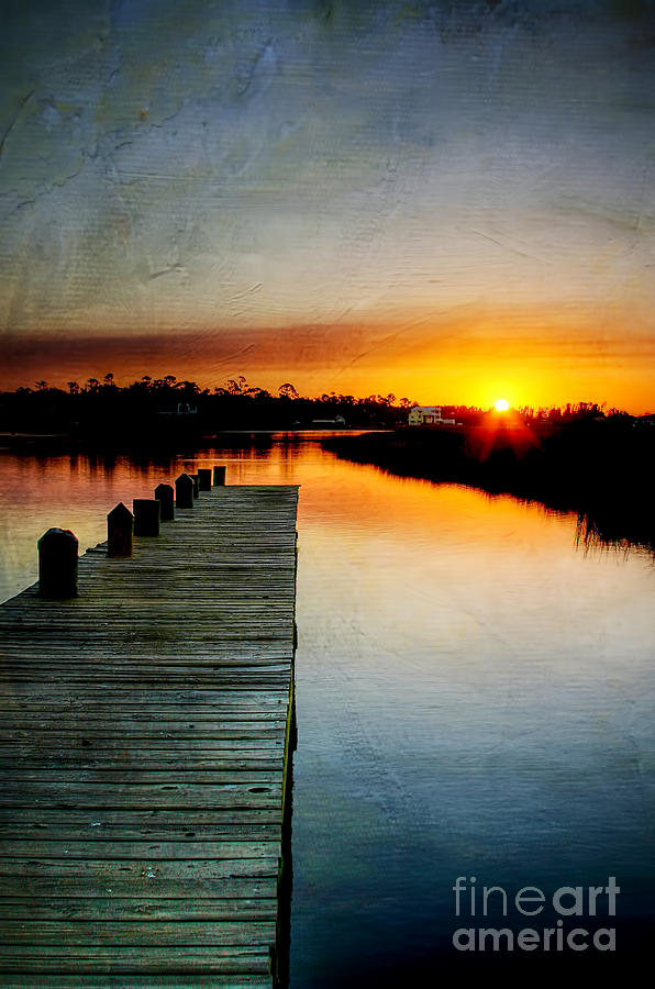 Pier Photograph - Sunset Pier by Joan McCool