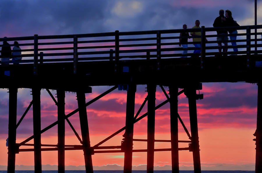 Sunset Photograph - Sunset Pier by Julianne Bradford