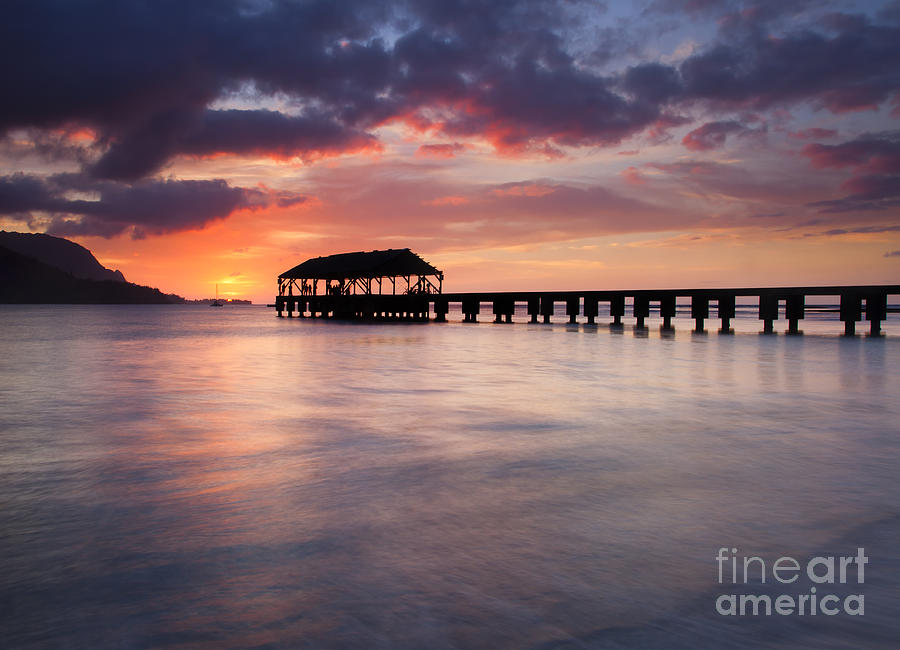 Pier Photograph - Sunset Pier by Mike  Dawson