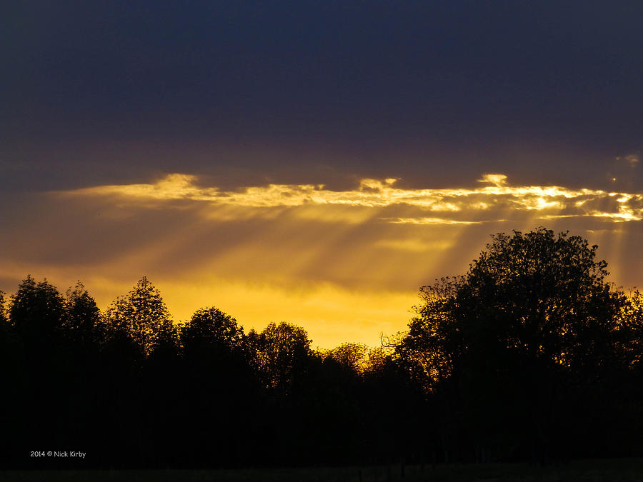 Sunset Photograph - Sunset Rays 2014 by Nick Kirby