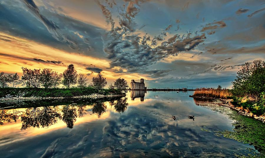 Reflection Photograph - Sunset Reflection by Jeff S PhotoArt