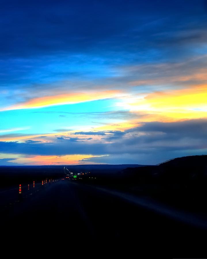 Sunset Road Work 16489 Photograph