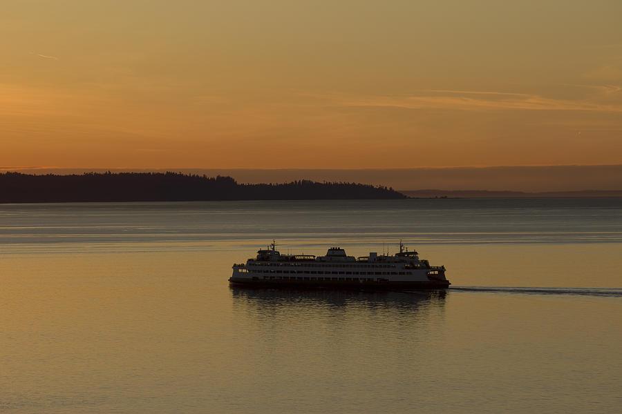 Sunset Photograph - Sunset Sail by Stephen Prestek