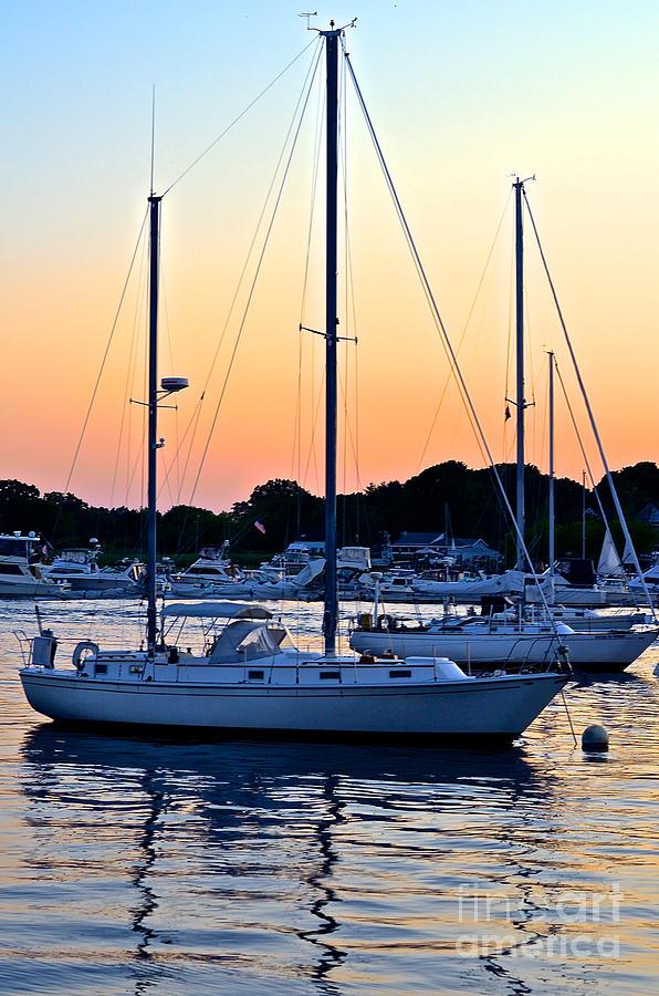 Sunset Sailboat Photograph