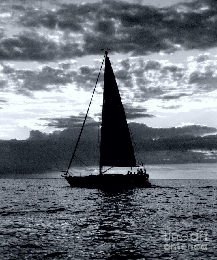 Sailing Photograph - Sunset Sailing -2 by Kathleen Struckle