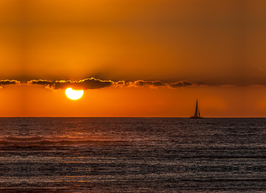 Boat Photograph - Sunset Sailing by Paul Johnson