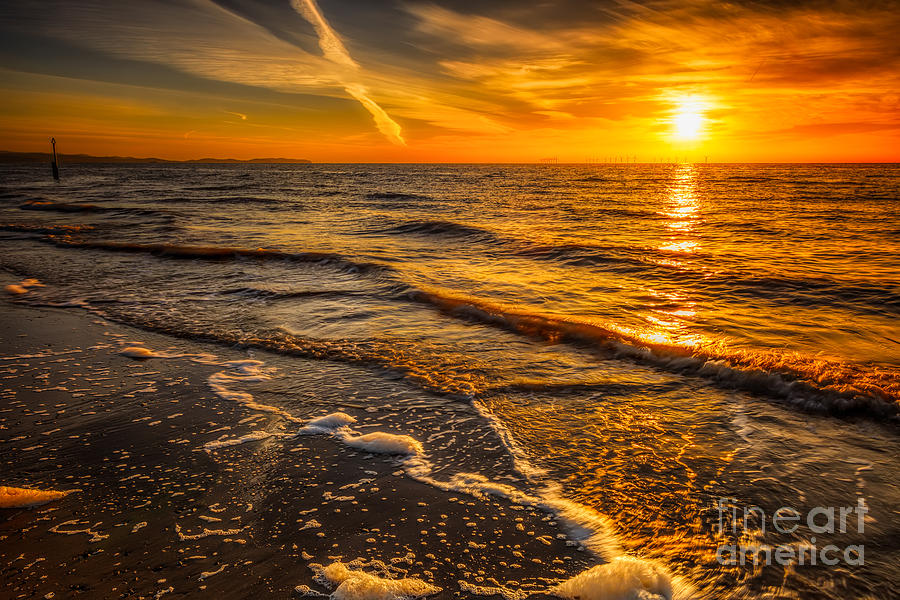 Bay Photograph - Sunset Seascape by Adrian Evans