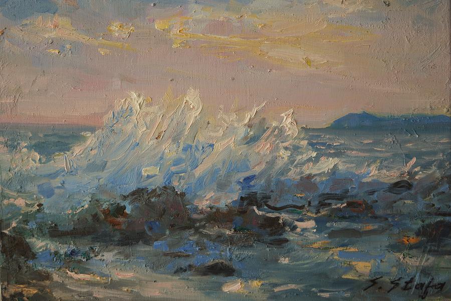 Paesaggio Painting - Sunset by Sefedin Stafa