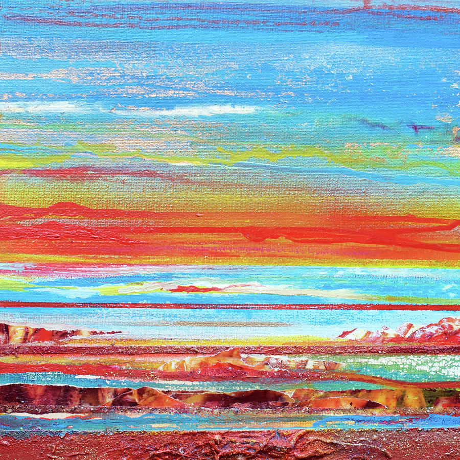 Sunset Mixed Media - Sunset Series Druridge Bay 1c by Mike   Bell