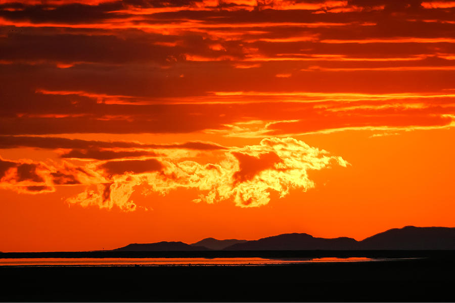 Sunset Photograph - Sunset Sky Fire by Kirk Strickland